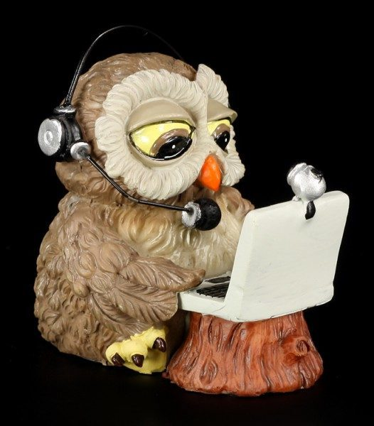 Computer Owl - Funny Figurine
