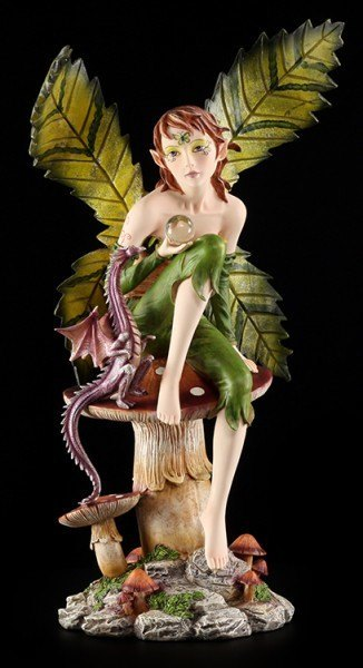 Large Fairy Figurine - Dorna with Dragon