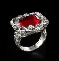 Alchemy Gothic Ring - Blood Rose