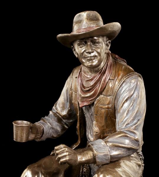 Cowboy Figurine - Coffee Break on Bonfire