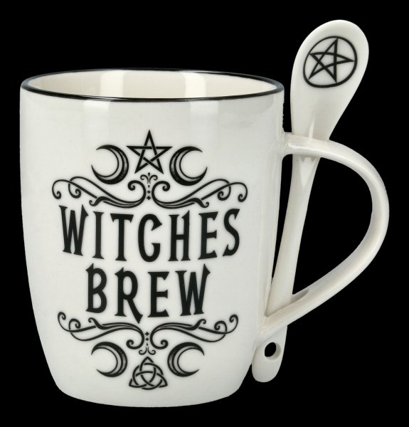 Tasse mit Löffel - Witches Brew