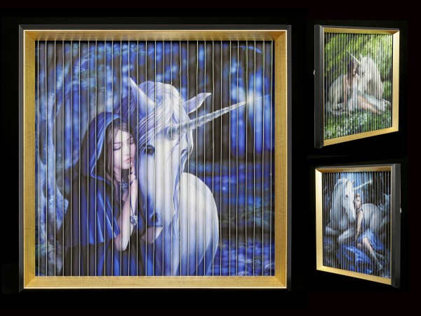 Kinetic Picture with Unicorns by Anne Stokes