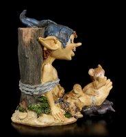 Pixie Kobold Figur - Indianer am Marterpfahl
