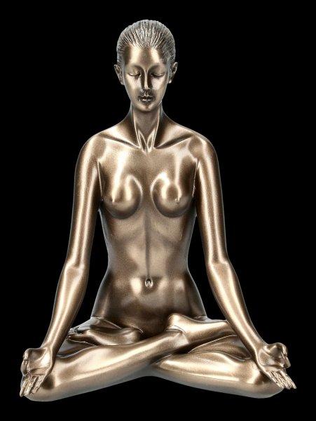 Weibliche Akt Figur - Yoga Padmasana Stellung