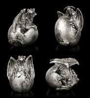 Dragon Baby Set of 4 - silver colored