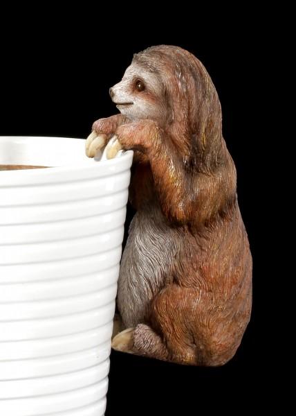 Garden Figurine Sloth - Flower Pot or Fence Ornament