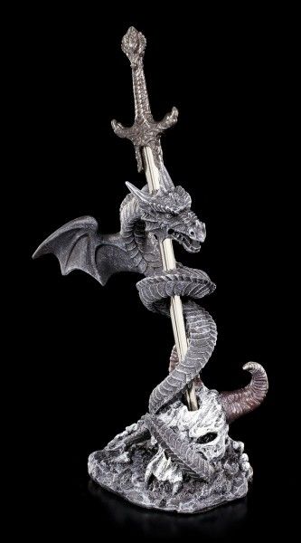 Letter Opener - Dragon winds around Sword