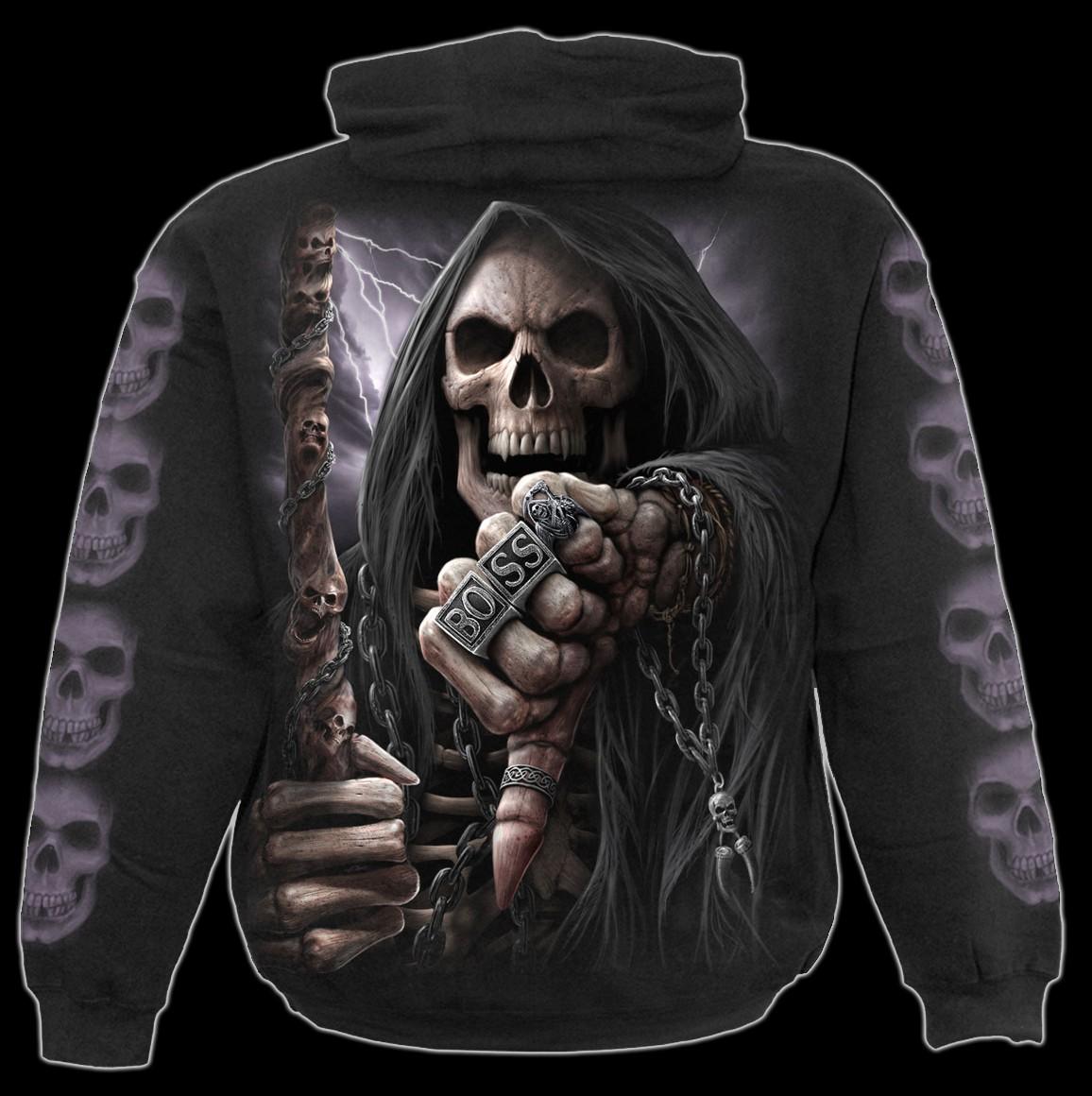 Skelett Kapuzenpullover - Boss Reaper