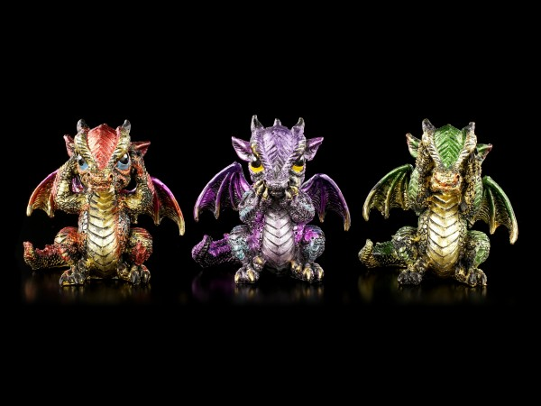 Drachen Figuren - Three Wiselings - 3er Set
