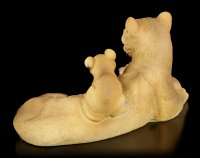 Garden Figurine - Lion Mama with two Ruffians