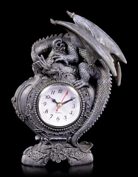 Drachen Tischuhr - Wächter der Zeit