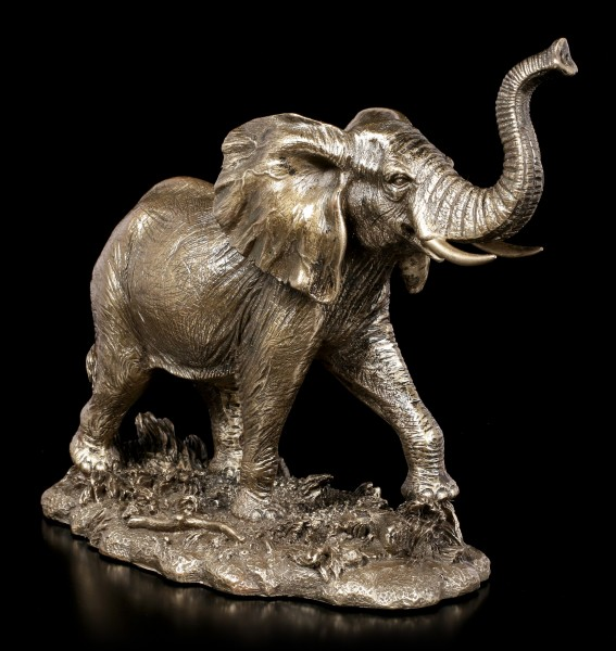 Elephant Figurine - Running in Veld