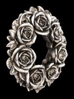 Wandrelief und Kerzenhalter - Black Rose