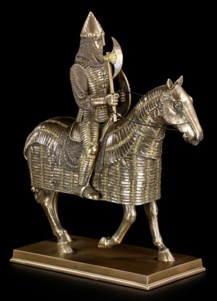 Late Middle Ages Knight Figurine on Horse