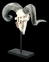 Ram Skull on Metal Stand