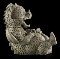 Garden Figurine - Dragon Cracked Up Laughing
