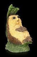 Funny Hedgehog Figurine sitting under Farin - Finally Holidays