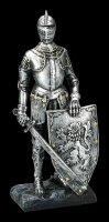 Ritter Figur mit Löwenschild und Schwert