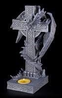 Tealight Holder - Dragon Climbs on Cross - Right