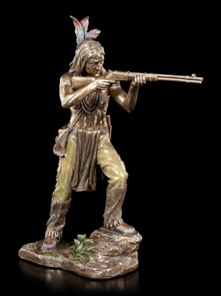 Indian Figurine - Aiming Warrior with Gun
