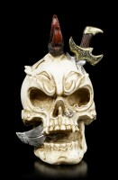 Small Skull with Knife in Head