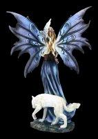 Elfen Figur - Corelei mit Eule und Wolf