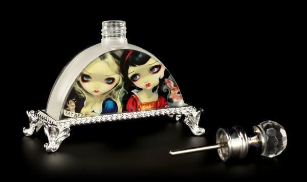 Glass Perfume Bottle Fairy - Alice & Snow White