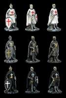 Crusader with Sword Figurines - Set of 9