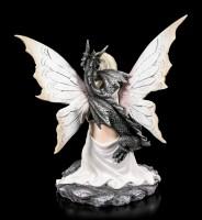 Fairy Figurine - Valaria with black Dragon
