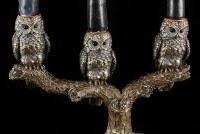 Kerzenhalter - Drei weise Eulen