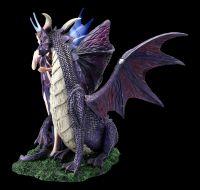 Elfen Figur - Dracana mit großem Drachen