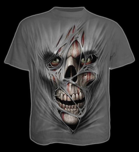 T-Shirt Horror Totenkopf - Stitched Up