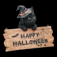 Door Sign Witches Cat - Happy Halloween