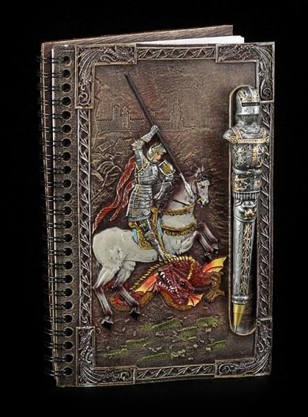 Ritter Notizbuch mit Kugelschreiber - Hl. Georg