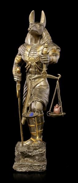 Anubis Warrior Figurine with Scale - bronzed