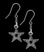 Alchemy Pentagram Earrings - Black Star