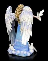 Engel Figur mit weißen Tauben - Changling