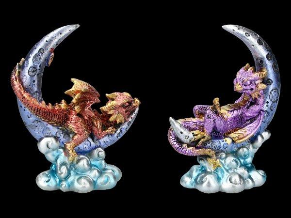 Dragon Figurines on Moon Set