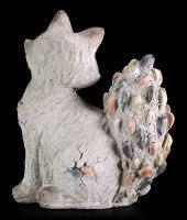 Garden Figurine - Sitting Fox in Stone Look