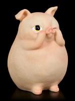 Drei dicke Weise Schweinchen Figuren - Nichts Böses