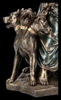 Hades Figur mit Zerberus - Herrscher der Unterwelt