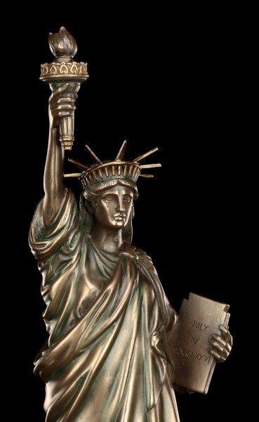 Freiheitsstatue Figur - Statue of Liberty - bronziert