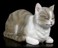 Gartenfigur - Katze schlafend