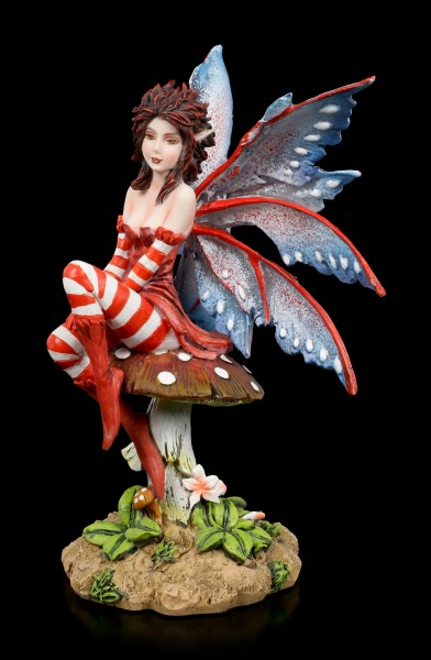 Fairy Figurine - Rouge on Mushroom