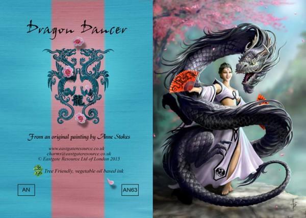 Fantasy Grußkarte Drache - Dragon Dancer