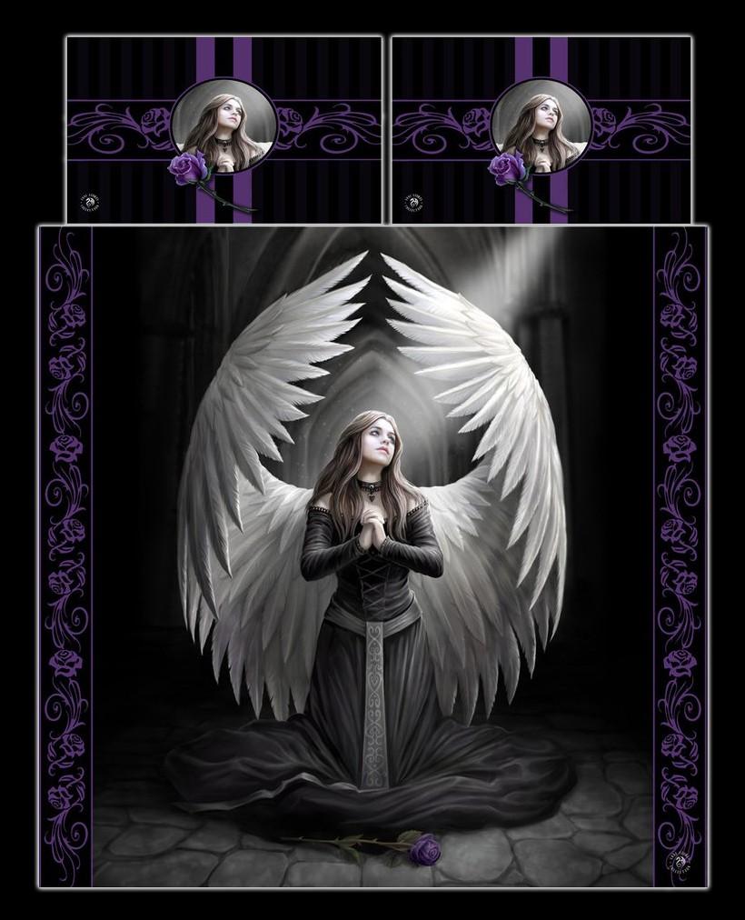 Fantasy Doppel Bettwäsche Engel Prayer For The Fallen By Anne