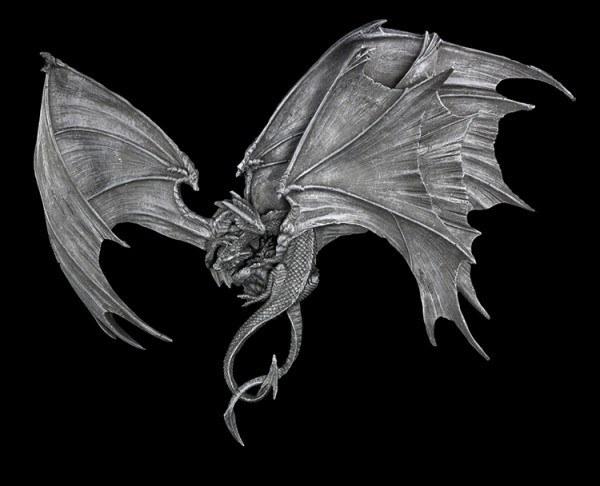 Drachen Kampf Wandrelief - Go For The Throat