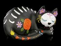 Cat Figurine - Sleepy Sugar - Day of the Dead
