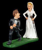 Bis dass der Tod uns scheidet - Lustige Brautpaar Figur