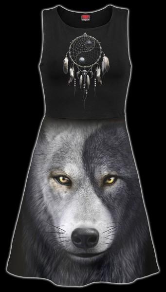 Skater Kleid Midi Fantasy - Wolf Chi